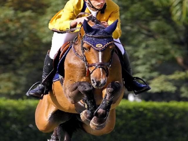 O cavaleiro Yuri Mansur será o único brasileiro a competir no CSI3* da Holanda
